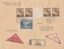 Böhmen & Mähren R-NN-Brief Mif Minr.4x 24 Davon 1x ZW, 57 Brünn 9.3.42 - Böhmen Und Mähren