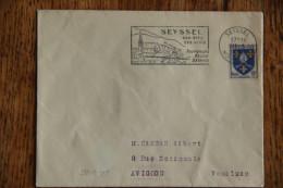 74 Haute Savoie - Flamme 1956 ? - SEYSSEL - Son Site Ses Vins Promenades Pêche Détente - Storia Postale