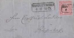 NDP Brief EF Minr.4 Nachv. Stempel Markneukirchen 6.3.69 - Norddeutscher Postbezirk