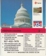 USA - World Cup 1994, Washington, Sprint Promotion Prepaid Card, Tirage 20000, 05/94, Used