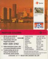 USA - World Cup 1994, Boston, Sprint Promotion Prepaid Card, Tirage 20000, 05/94, Used