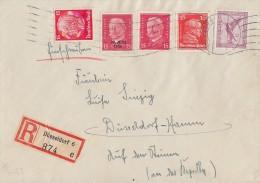 DR R-Brief Mif Minr.A379,391,414,445,470 Düsseldorf 31.7.33 - Deutschland