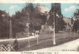 CHAMPAGNE ARDENNE - 52 - HAUTE MARNE - SAINT DIZIER - Promenade Et Postes  - Colorisée - Saint Dizier