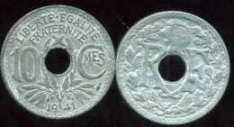 FRANCE  10 CENTIMES ZINC 1941 Pas De Points Et Non Souligné - D. 10 Centimes