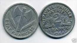 FRANCE  2 Francs  Bazor  1944 C - France