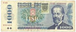 Slovakia 1000 Korun 1993 Provisional Issue - Slovaquie