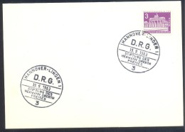Germany Deutschland 1963 Card: Space Weltraum D.R.G Stiftung Des Hermann Oberth Preises - FDC & Gedenkmarken