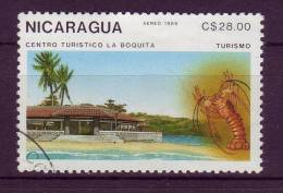 Nicaragua YV PA 1275 O 1989 Langouste - Crustacés