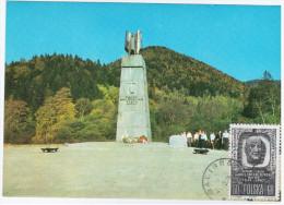 Poland 1978 Jablonki K.Baligrodu, Monument Of Karol Swierczewski-Walter, Soviet Military Officer, Army General - Cartes Maximum