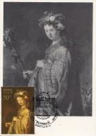 RUSSIA  Maxi Card REMBRANDT - FLORA /  Paint Art Carte Maximum - Rembrandt