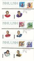 2004  National Hockey League  All Stars  Series 5  Sc 2017a-f From Souvenir Sheet On 3 FDCs - 2001-2010