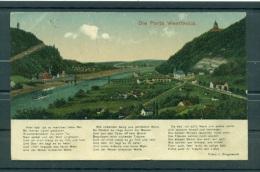 Allemagne - Germany 1923 - Michel N.244 - Carte Postale Porta Westfalica - Porta Westfalica