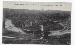 (RECTO / VERSO) CROZANT - N° 3 - LA BOUCLE DE LA CREUSE AU PONT DU DIABLE - Crozant