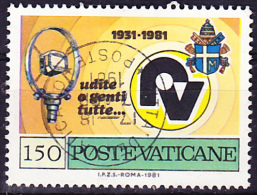 Vatikan - Radiosender/radio Stations/les Stations De Radio 1981 - Gest. Used Obl. - Usados