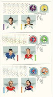 2005  Natinal Hockey League  All Stars  Series 6  Sc 2085a-f From Souvenir Sheet On 3 FDCs - 2001-2010
