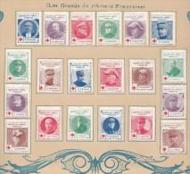 Croix Rouge - Les Grande Chefs De L'Armee Francaise - Commemorative Labels