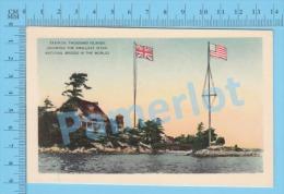 Zavikon 1000 Islands ( Smallest International Bridge In The World USA & Canada,  Photo Postcard ) Recto/Verso - Cartes Postales