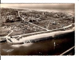 14 OUISTREHAM-RIVA-BELLA N° 5  Le Camping Vu Du Ciel De FACE  / CPSM Voyagée 1953 / FLAMME / Légère Usure Du Temps !! - Ouistreham