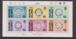 Falkland Islands 1980 London Stamp Exhibition Early Postmarks Sheet Of 6 MNH - Falklandinseln