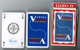JEU DE 32 CARTES AVEC ETUI VITTEL VITTELLOISE VITTEL DELICES SANTE FRAICHEUR GAITE / PUBLIDEAL BORDAUX - Cartes à Jouer Classiques