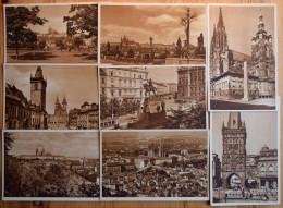 Prague / Prag / Praha - Lot De 20 CPA - Hradschin - Karlsbrücke - Altstädter Ring - Wenzelsplatz - Pulverturm - Etc. - Tchéquie
