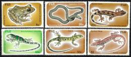 FIJI ISLANDS FROG FROGS ANIMAL LIZARD SNAKE REPTILE SET OF 6 ISSUED 1986 MINT SG? READ DESCRIPTION!! - Fidji (1970-...)