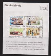 Pitcairn Islands 1980 London Stamp Exhibition Mail Transport  Miniature Sheet MNH - Pitcairn Islands