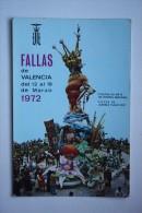 Fallas De Valencia 1972 Primer Premio 1971 - Radio Card - Valencia