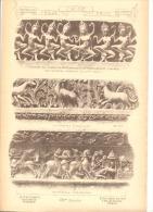 Architecture - Sculpture -Frise - Angoulème , Marignac, Bourges, Paris, Versailles,Vérona, Pistoja,Monchy-Humières (b26) - Autres