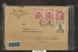 CZECHOSLOVAKIA, CESKOSLOVENSKO, 1957  Cover Posted CSR>>India, With  Praga 1955 Stamps. Rare - Czechoslovakia