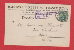 ALLEMAGNE  //  Postkarte  De Frankfurt     //   Pour Rixheim  // 7 Mars 1916 - Ganzsachen
