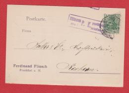 ALLEMAGNE  //  Postkarte  De Frankfurt      //   Pour Rixheim  //   6 Juin 1916 - Ganzsachen