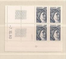FRANCE ( D16- 5784 )  N° YVERT ET TELLIER  N° 1962  N** - Coins Datés