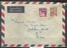 CZECHOSLOVAKIA, 1962 Postally Used Cover With 1954  Yvert 758 (textile) & 1960 Yvert 1074  (Castle Smolenice) - Tschechoslowakei/CSSR