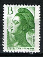 FRANCE 2483** B (2,00f)  Vert  Liberté De Gandon - 1982-90 Liberty Of Gandon