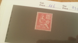 LOT 243101 TIMBRE DE FRANCE NEUF* N�116 VALEUR 35 EUROS