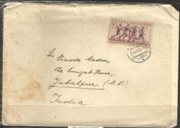 CZECHOSLOVAKIA,  Postally Used Cover From Plzen,CSR To India,  With 1956 Marathon Race Stamp.Sports Athletics Running. - Czechoslovakia