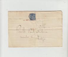 LETTRE CONVOCATION FERMEE PAR TIMBRE SAGE TIMBRE TAXE à L'Interieur CORSE VICO 1888 - Poststempel (Briefe)