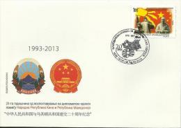MK 2013-670 CHINA-MAKEDONIA, MAKEDOIA, FDC