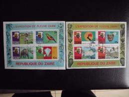Zaire Bloc 8 Et 9 Oblitéré Expédition Du Fleuve Zaire - Autres