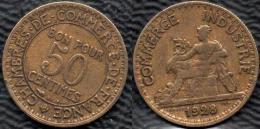 FRANCE 1928 Domard 50 C Lot De 1 Pièce De Monnaie / Coin / Münze Bronze [J01m] - France