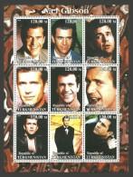 TURKMENISTAN 2000 FILMS FILMSTARS MEL GIBSON SMOKING MNH - Turkmenistan