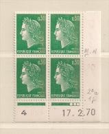 FRANCE ( D16- 5950 )   N° YVERT ET TELLIER  N° 1611b  N** - Coins Datés