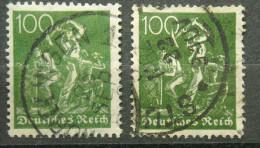 DR Mi. 187 A U. B  Gestempelt U. Geprüft Infla  (529) - Allemagne