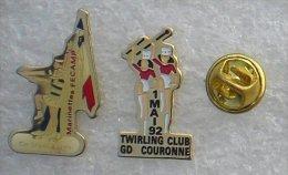 TWIRLING MAJORETTES GRAND COURONNE FECAMP 2 PIN'S          UUU  77