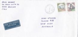 Italy 1998 Cover To Australia Castles 400 Lire And 1000 Lire - 6. 1946-.. Republic
