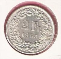 ZWITSERLAND 2 FRANCS 1965 SILVER - Svizzera