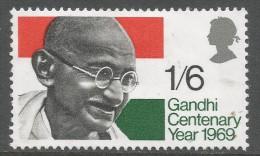 Great Britain. 1969 Gandhi Centenary Year. 1/6 MH SG 807 - 1952-.... (Elizabeth II)