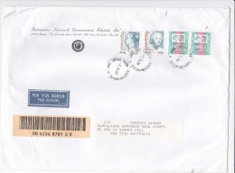 Italy 1999 Registered Cover Sent To Australia Lire 7.650 - 6. 1946-.. Republic