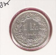 ZWITSERLAND 1 FRANC 1944 SILVER - Monnaies